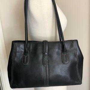 Ann Taylor black leather shoulder bag